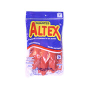 Guantes de hule Rojo Altex No.7