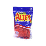 Guantes de hule rojo altex no. 7 1/2