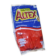 Guantes de hule Rojo Altex No.9