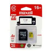 MEMORIA MICRO SD CLASE 10 MAXELL 346305 16 GB CON ADAPTADOR
