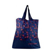 BOLSA ULTRALIGERA AZUL CON ROJO PERFECT CHOICE PC-083146 DE POLIESTR