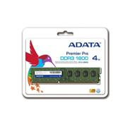 MEMORIA RAM TIPO GENERICA ADATA DE 4 GB EMBALAJE U-DIMM TECNOLOGIA DDR3 VELOCIDAD DE 1600 MHZ