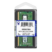 MEMORIA RAM TIPO GENERICA KINGSTON DE 4 GB EMBALAJE SODIMM TECNOLOGIA DDR4 VELOCIDAD DE 2400 MHZ
