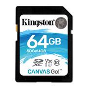 MEMORIA SD KINGSTON CANVAS SDG/64GB DE 64 GB CLASE 10