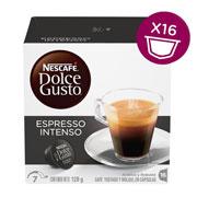 CAPSULAS DE CAFE ESPRESSO INTENSO DOLCE GUSTO CON 16 CAPSULAS