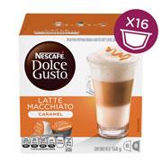 CAPSULAS DE CAFE CARAMEL LATTE MACCHIATO DOLCE GUSTO CON 16 CAPSULAS