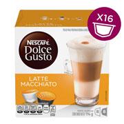 CAPSULAS DE CAFE LATTE MACCHIATO DOLCE GUSTO CON 16 CAPSULAS