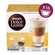 CAPSULAS DE CAFE VAINILLA LATTE MACCHIATO DOLCE GUSTO CON 16 CAPSULAS