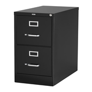ARCHIVERO VERTICAL DE 2 GAVETAS HIRSH 14526 COLOR NEGRO