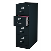 ARCHIVERO VERTICAL DE 4 GAVETAS HIRSH 14532 COLOR NEGRO