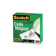 CINTA ADHESIVA MAGICA SCOTCH 810 DE 12 MM X 33 M 1 PZA