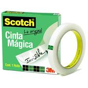 CINTA ADHESIVA MAGICA SCOTCH 810 DE 12 MM X 65 M 1 PZA