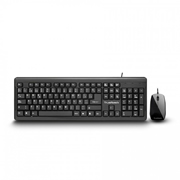 KIT TECLADO Y MOUSE USB NEGRO