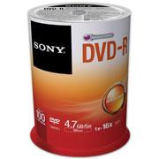 DVD DVD-R SONY 100DMR47 CAPACIDAD 4.7GB VELOCIDAD DE TRANSFERENCIA 16X CAMPANA  DE 100 PIEZAS