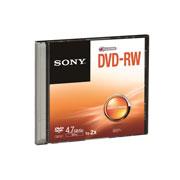 DVD DVD-RW SONY DMW47SS CAPACIDAD 4.7GB VELOCIDAD DE TRANSFERENCIA 2X INDIVIDUAL