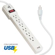 MULTICONTACTOS DE 6 CONTACTOS, MAS USB