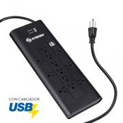 MULTICONTACTO 12 SALIDAS CON DOBLE CARGADOR USB STEREN 905-420