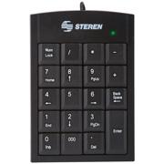 TECLADO NUMERICO STEREN COM-625 ALAMBRICO USB NEGRO