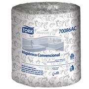 PAPEL HIGIENICO TRADICIONAL TORK 700148 DE 500 HOJAS DOBLES DE 10.1 X 9.5 CM COLCHON DE 48 ROLLOS