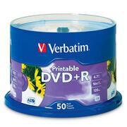 DVD DVD R IMPRIMIBLE VERBATIM  95136D CAPACIDAD 4.7 GB VELOCIDAD DE TRANSFERENCIA 16X CAMPANA DE 50 PIEZAS
