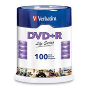DVD DVD R VERBATIM 97175 CAPACIDAD 4.7GB VELOCIDAD DE TRANSFERENCIA 16X CAMPANA DE 100 PIEZAS