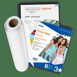 Papel epson diseñado para ofrecer los mejores resultados con tus impresoras EPSON