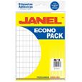 Etiquetas blancas Janel No.1 de 9X13mm 1 Paquete