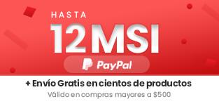 Meses sin intereses mas envio gratis con PayPal