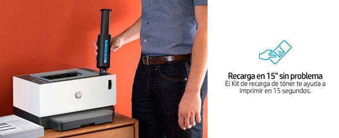 HP Neverstop Laser, 1000a, Imprime en 15 segundos