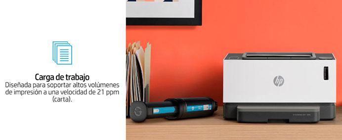 HP Neverstop Laser, 1000a,  soporta la alta carga de trabajo