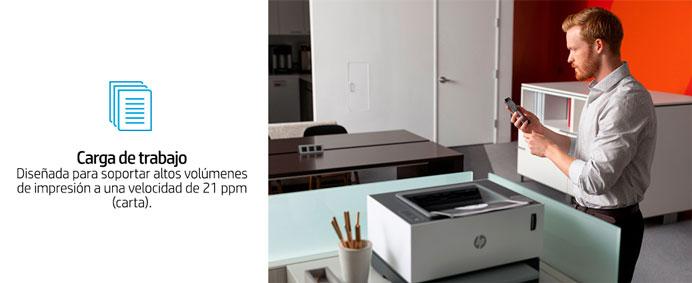 HP Neverstop Laser, 1000aw, soporta altos volumendes de impresion