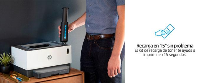 HP Neverstop Laser, 1000aw, regarga sin problema