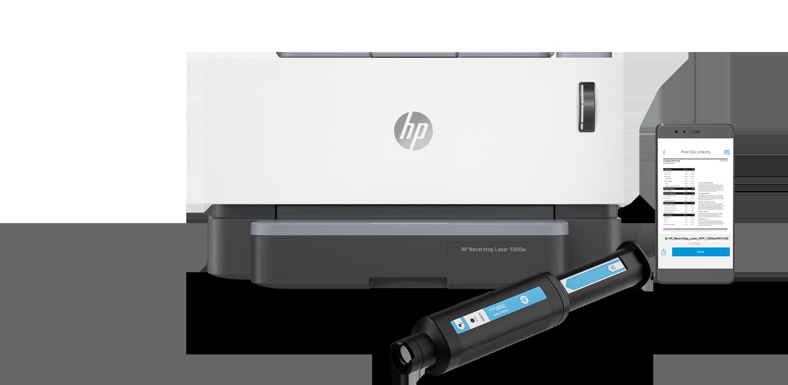 HP Neverstop  Laser 1000w, Imprima y escanee con la aplicación HP Smart, tóner original Hp Laser 103A