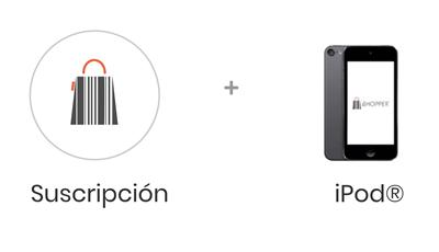 Paquete con iPod y Shopper para tu negocio, gestiona tu negocio y tu inventario