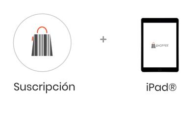 Paquete con iPad y Shopper para tu negocio, gestiona tu negocio y tu inventario