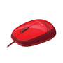MOUSE ALAMBRICO LOGITECH M105 CONEXION USB COLOR ROJO