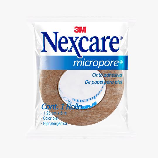 MICROPORE NEXCARE DE 1.25 CM X 5 MTS BLANCO CON 1 PIEZA