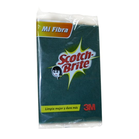 FIBRA VERDE SCOTCH-BRITE REGULAR DE USO DOMESTICO 1 PZA