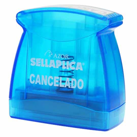 SELLO DE CANCELADO PRE ENTINTADO AZOR 1 PIEZA