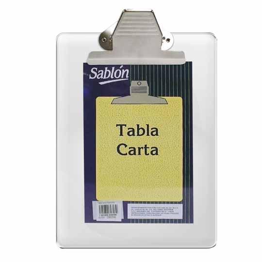 TABLA SUJETAPAPEL AZOR 2313CR TAMAÑO CARTA DE ACRILICO CON BROCHE METALICO 1 PIEZA