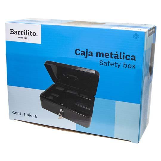 CAJA PARA DINERO METALICA BARRILITO CM3 COLOR GRIS