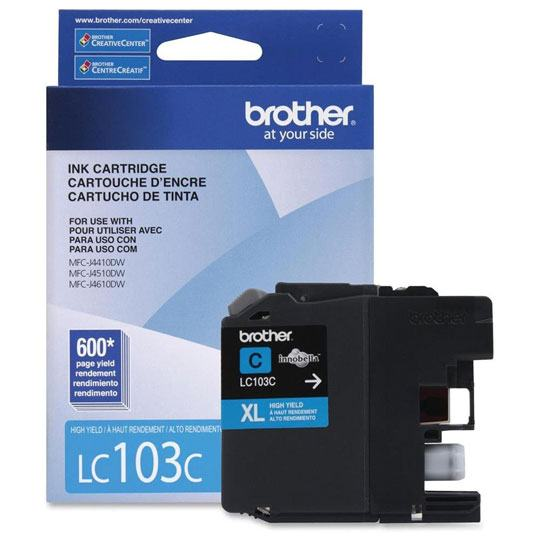 TINTA BROTHER LC103CXL LC103C COLOR CYAN