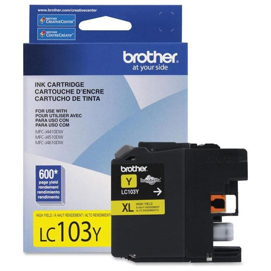 TINTA BROTHER LC103YXL LC103Y COLOR AMARILLO