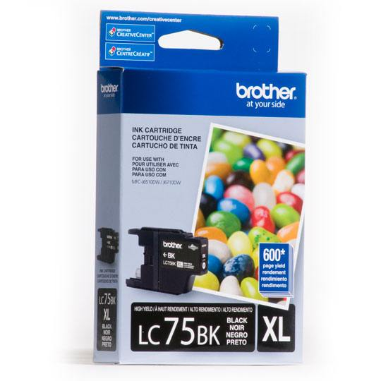 TINTA BROTHER LC75BKXL LC75BK COLOR NEGRO