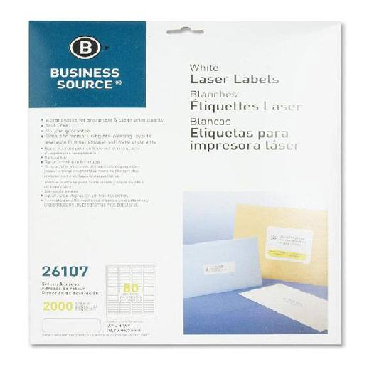 Etiqueta blanca business source 26107