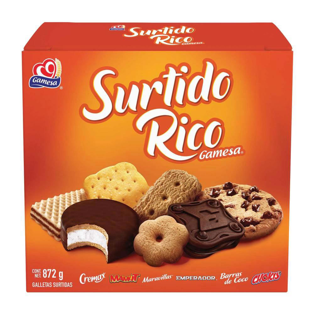 GALLETA GAMESA SURTIDO RICO 1 CAJA