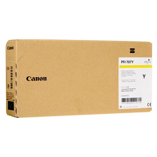 CARTUCHO DE TINTA CANON PFI-707 9824B001AA AMARILLO