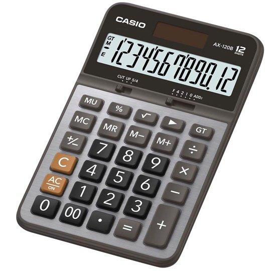 CALCULADORA BASICA SEMI-ESCRITORIO CASIO AX120B 12 DIGITOS