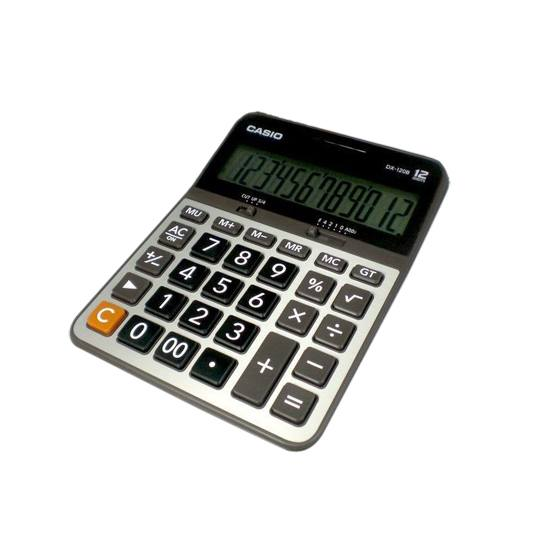 CALCULADORA BASICA SEMI-ESCRITORIO CASIO DX120B 12 DIGITOS
