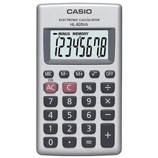 CALCULADORA DE ESCRITORIO CASIO HL820VA 8 DIGITOS